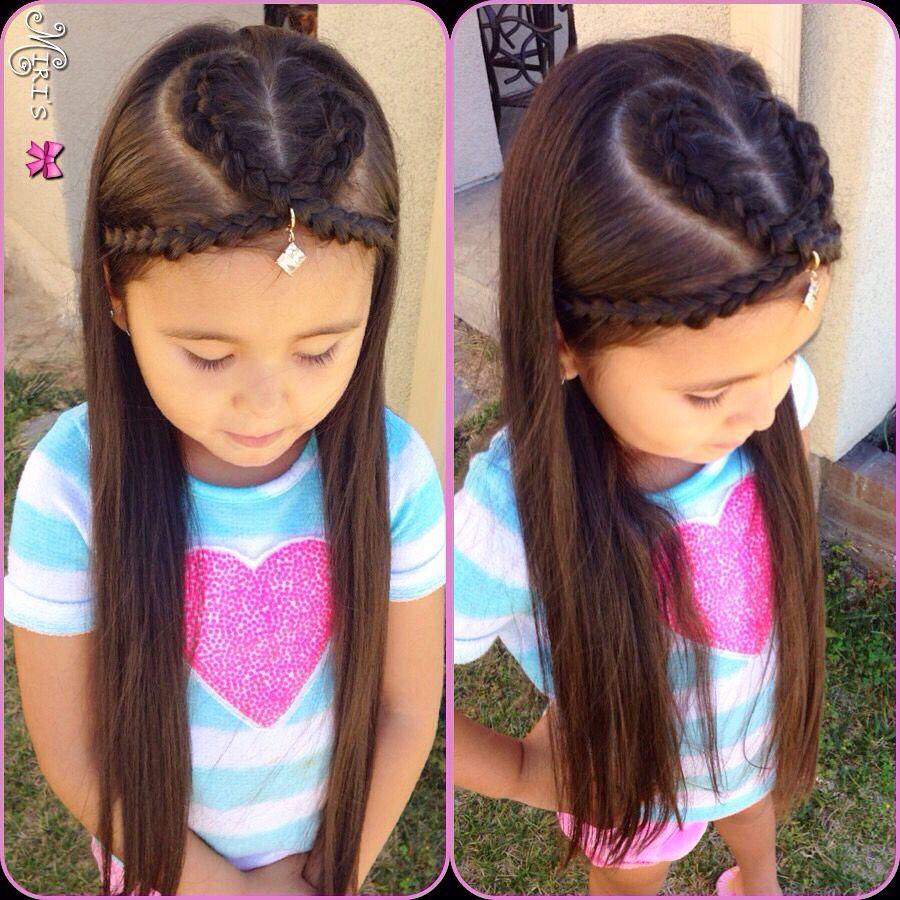 heart hair style little girls