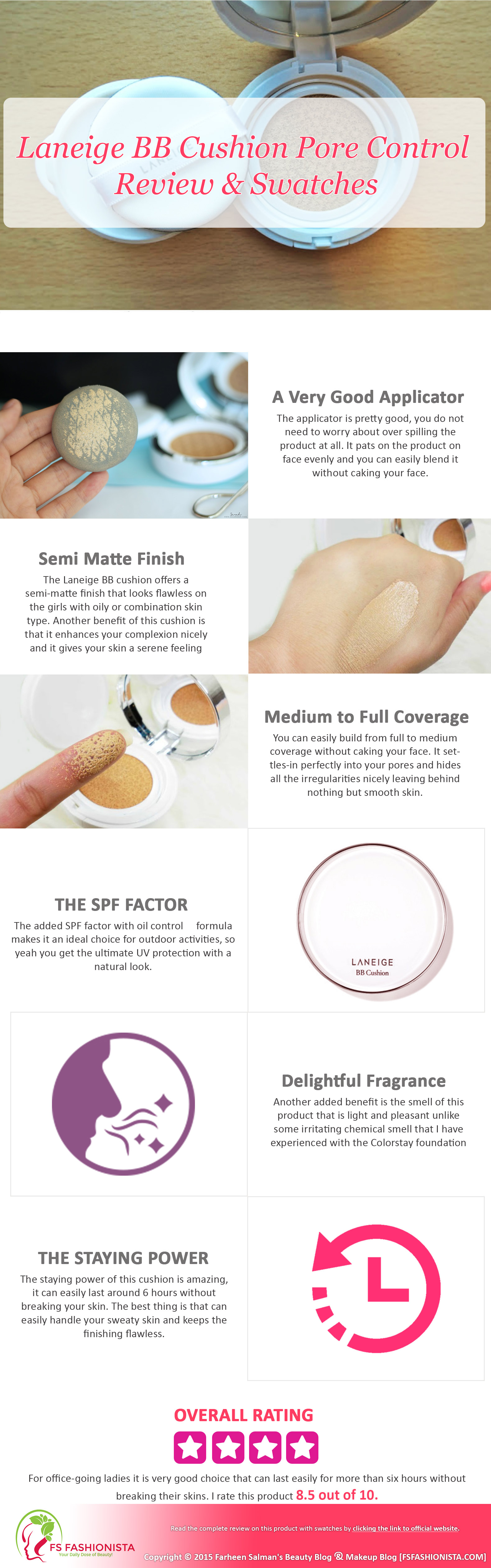 Laneige Bb Cushion Pore Control Review Swatches Laneige Bb