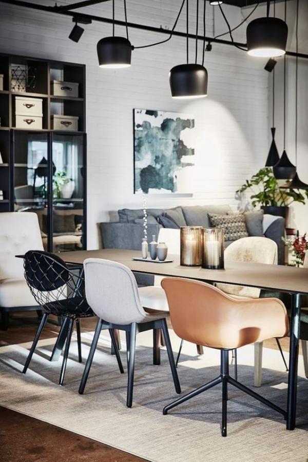 60 Inspiring Black And White Traditional And Modern Dining Room Decor Retro Home Decor