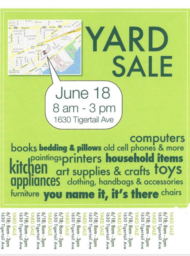 Miami Garage Sale W Map Yard Sale For Sale Sign Yard Sale Signs