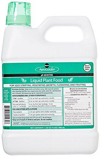 Aerogarden Liquid Nutrients 1 Liter Shake Bottle Lawn 400 x 300