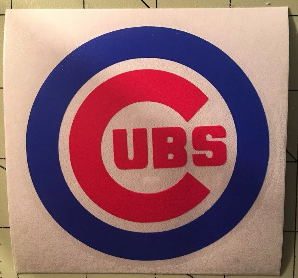 Chicago Cubs Vinyl Decal For Window Yeti Cup Mug Glass Etsy