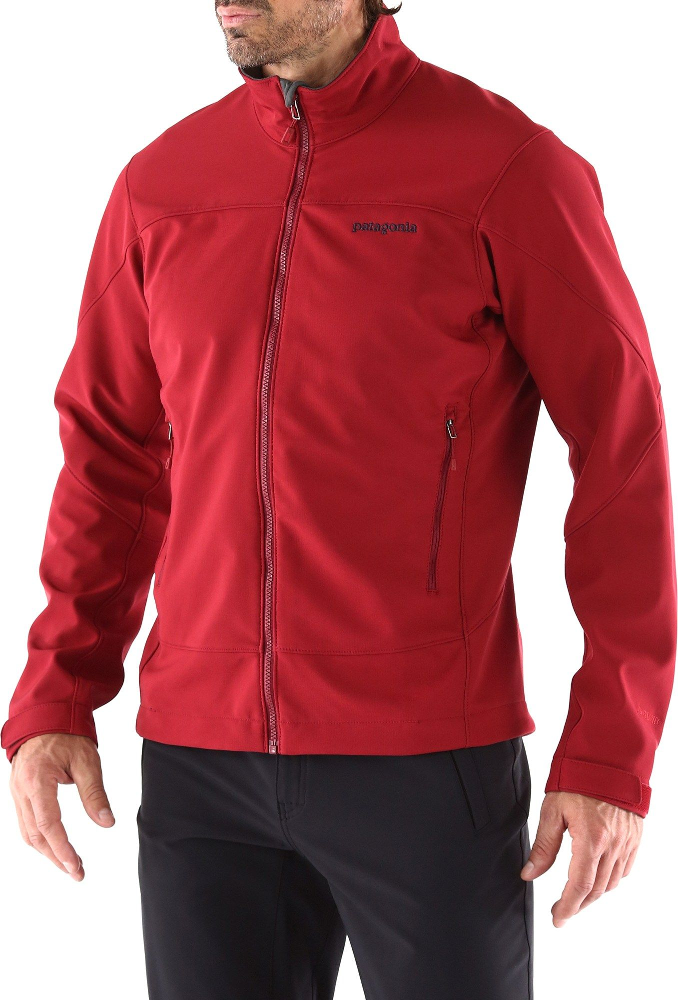 Adze Jacket In Red By Patagonia Mens Jackets Jackets Patagonia Mens [ 2000 x 1357 Pixel ]
