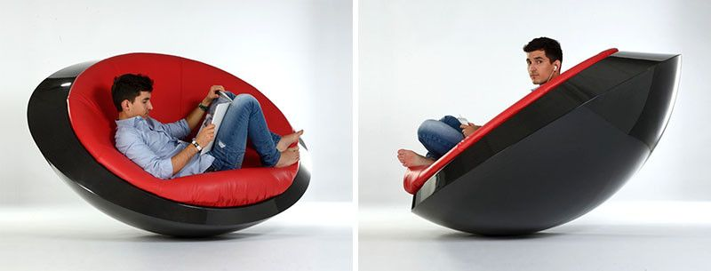 This New Rocking Chair Has A Flying Saucer Inspired Design Soft