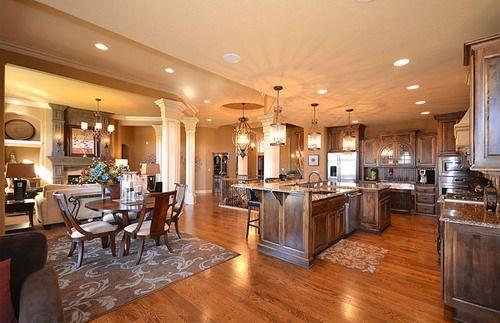 Useful Ideas To Add Coziness To Open Floor Plan Open Floor House Plans Kitchen Floor Plans Floor Plan Design