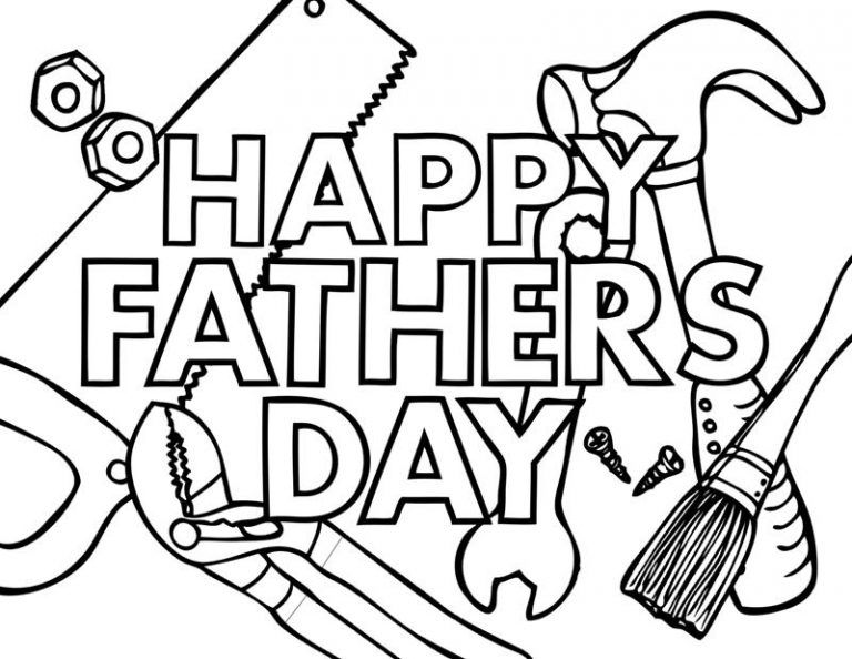Fathers Day Coloring Pages Father S Day Printable Happy Fathers