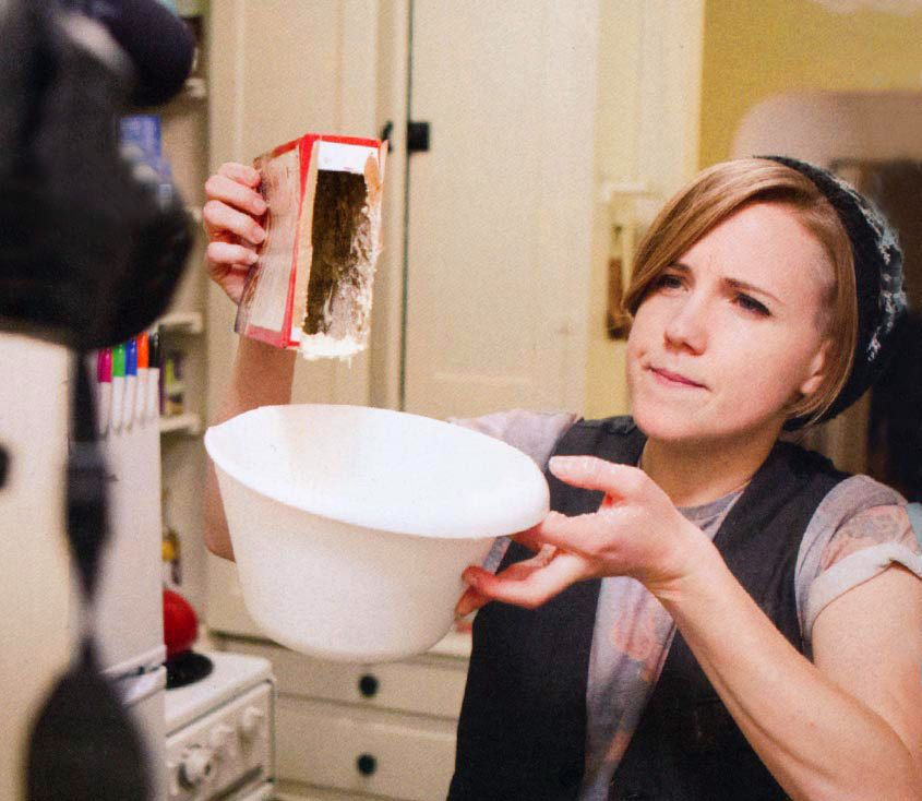 """we made a pot pie for """"my drunk kitchen""""'s hannah hart"""