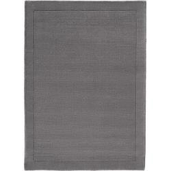 benuta Wollteppich Uni Grau 160×230 cm – Naturfaserteppich aus Wolle benuta