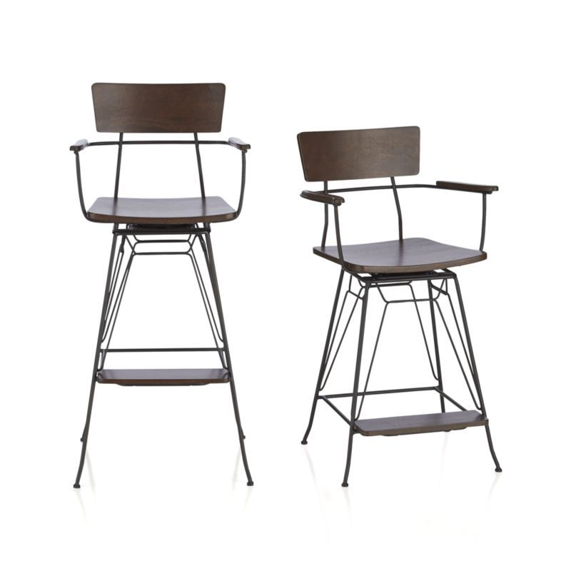 Elston Swivel Bar Stool Crate and Barrel Swivel bar