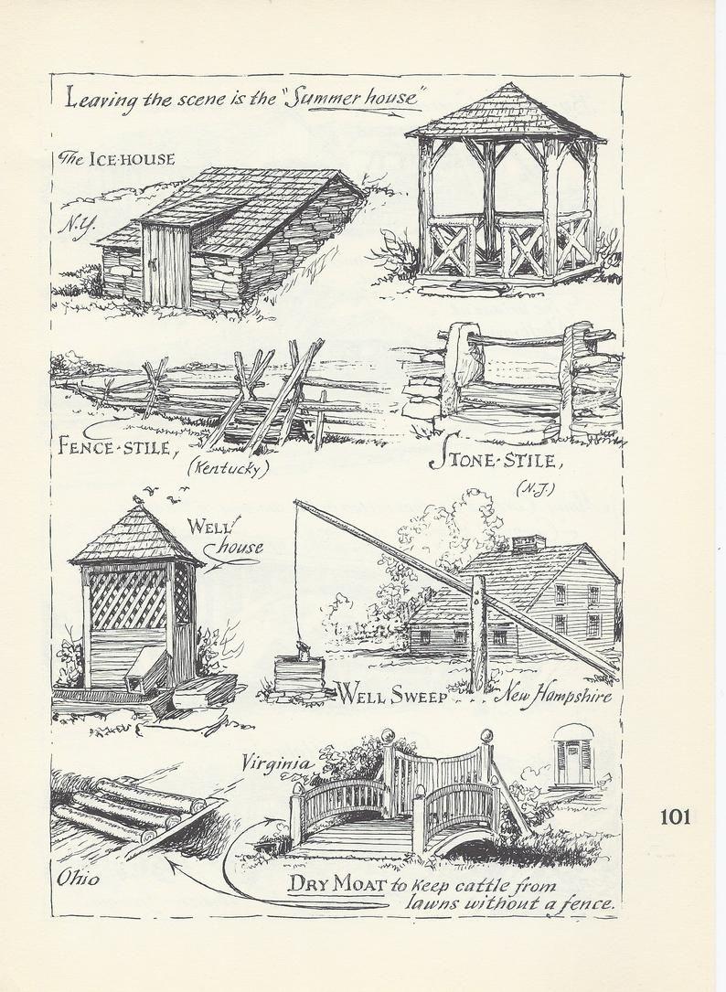 Summer House Print Ice House Well House Farmhouse Decor Rustic Decor Country Decor Architectur