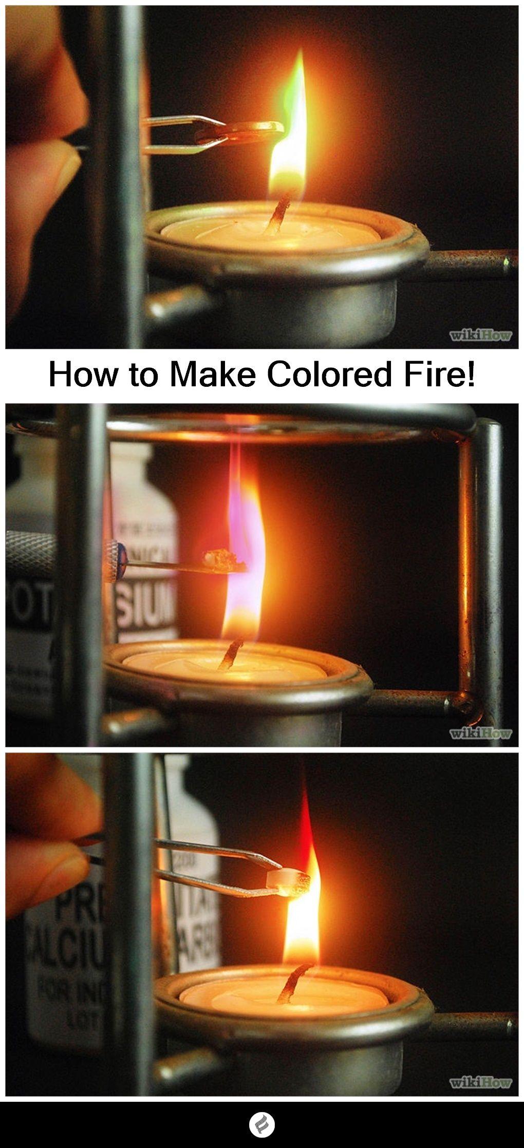 Make Colored Fire Magic tricks for kids, Easy magic