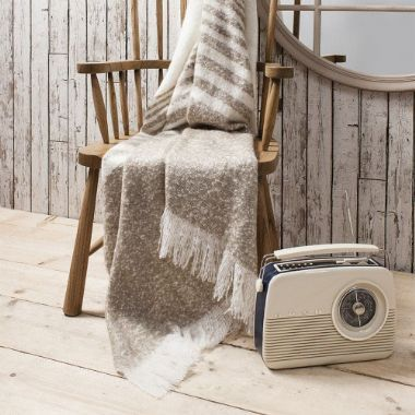Retreat Mohair Stripe Throw 37 Brandinteriors Co Uk Large Throws For Sofas Flannel Throw Herringbone Blanket