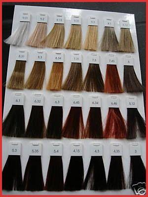 L Oreal Inoa Hair Color Chart Hair Color Chart Loreal Hair Color Loreal Hair Color Chart