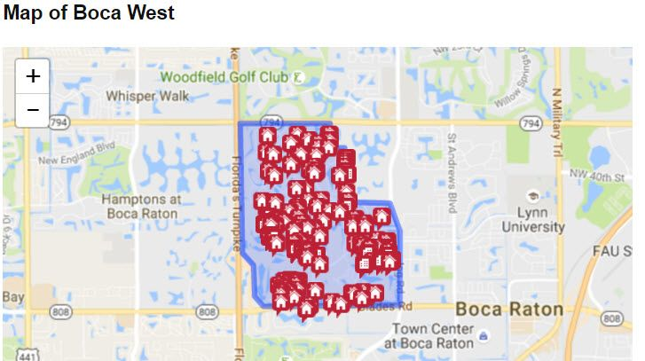 Boca West In Boca Raton Florida Map And Homes For Sale By Owner - Boca raton florida map