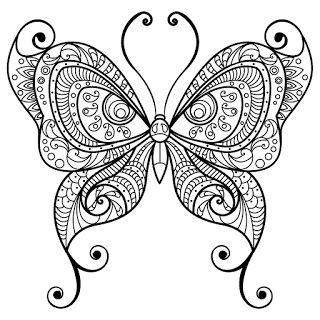 Butterly Mandala Kelebek Mandala Boyama