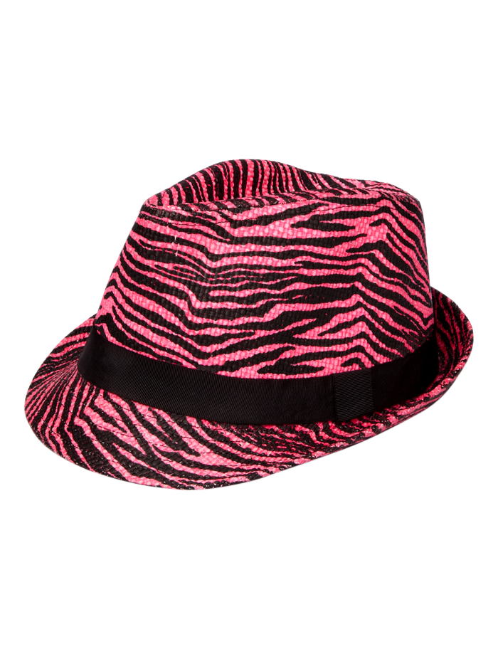 f65f872bf55 zebra fedora hat