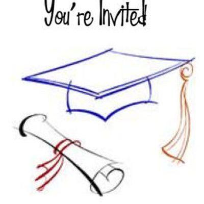 10 free printable graduation invitations printable graduation invitation 4 cap and diploma outline