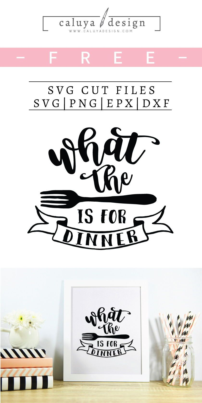 Free What The Fork Is For Dinner Svg Png Eps Dxf Cricut Projects Vinyl Free Printable Clip Art Svg Quotes