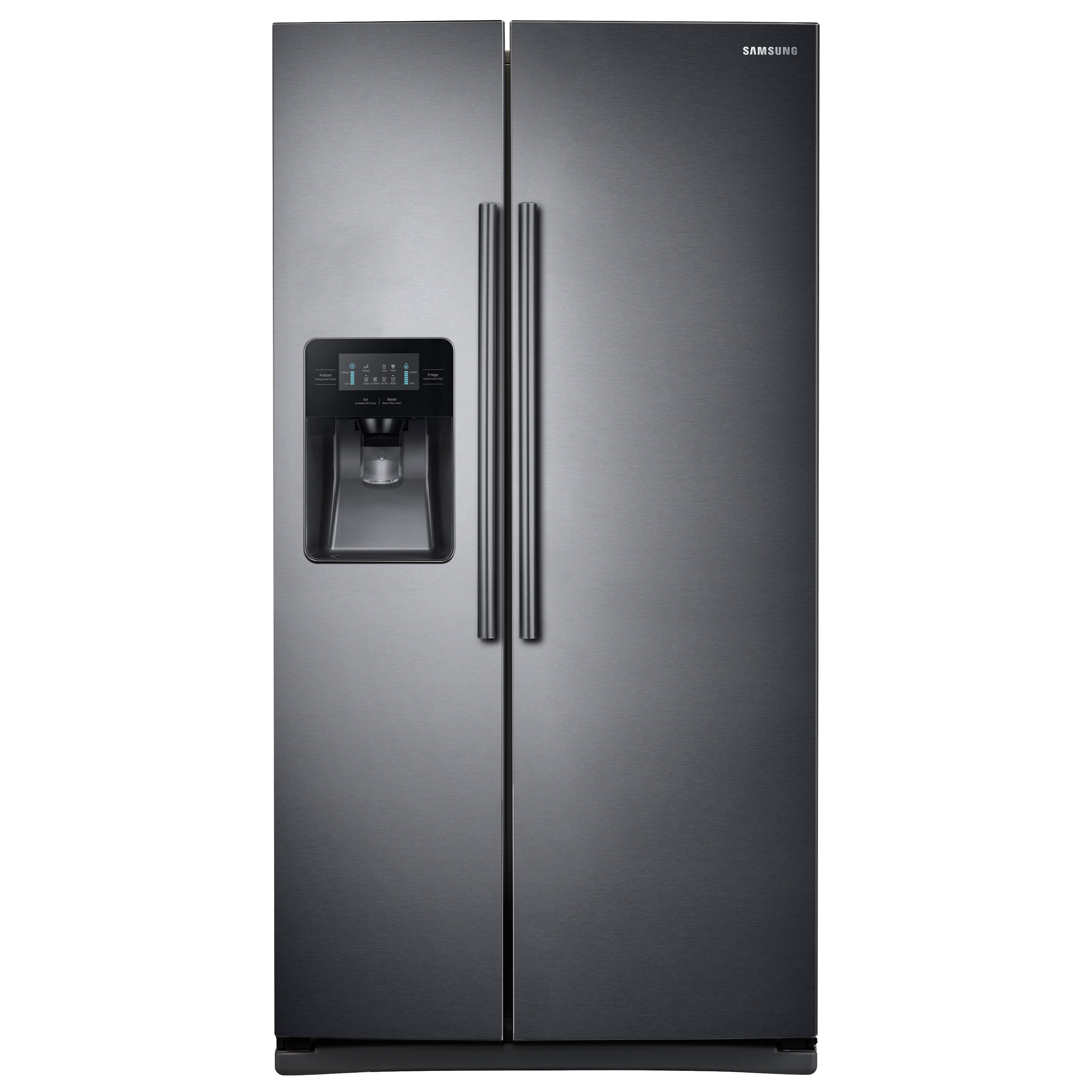 Pin By Kathleen On New Refrigerator Black Stainless Steel Side By Side Refrigerator Samsung Refrigerator