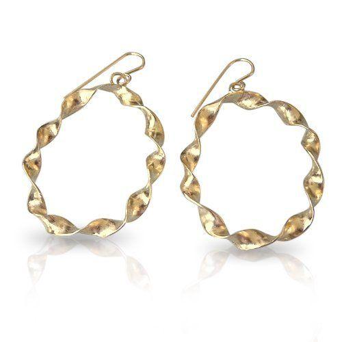 Gold Hoop Earrings 18k gold plated Gold Hoops Twisted Hoop