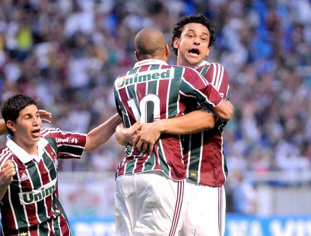 Comemoração do gol do título