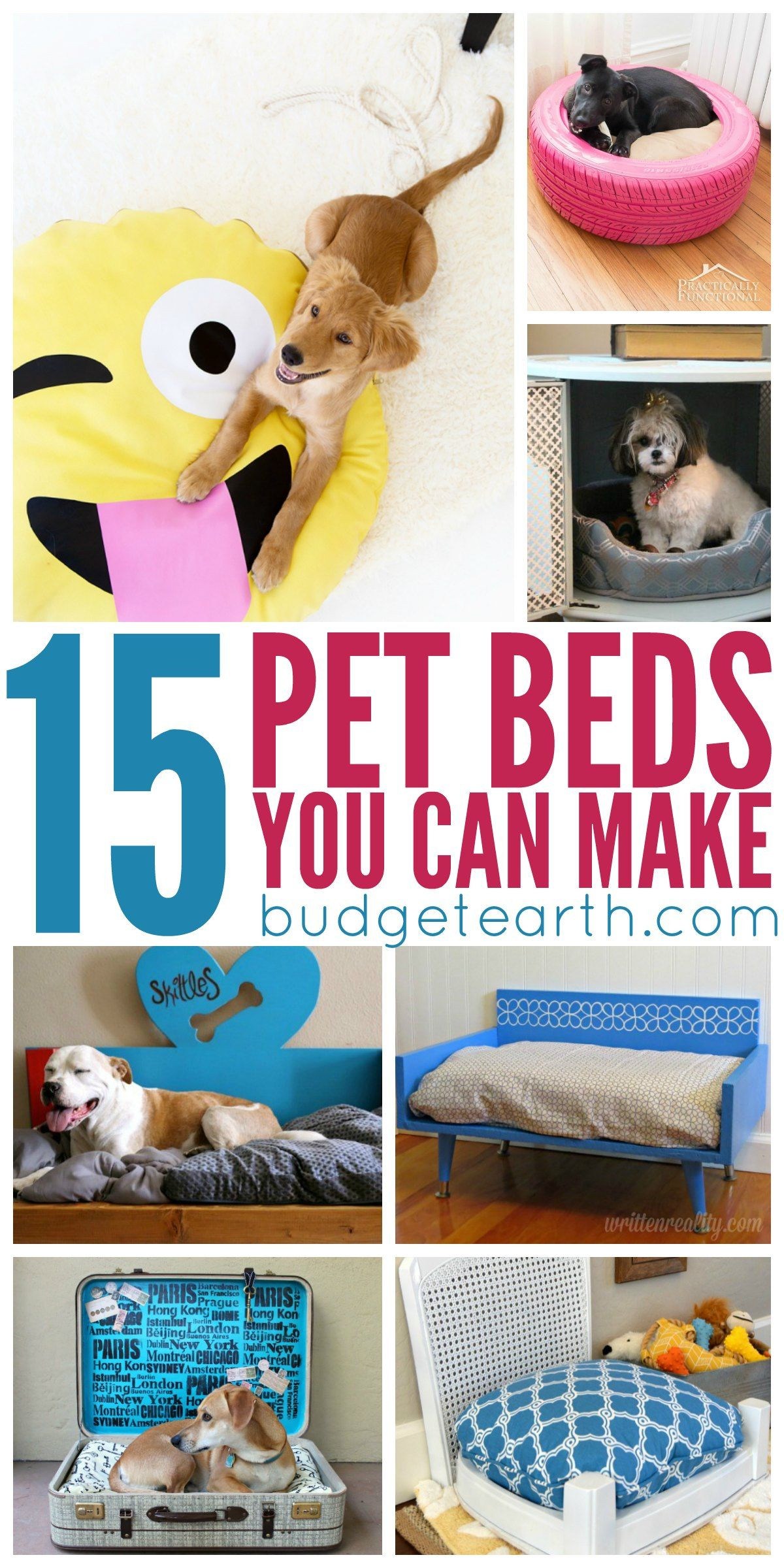 15 DIY Pet Beds Your can Make at Home Pet beds, Diy dog