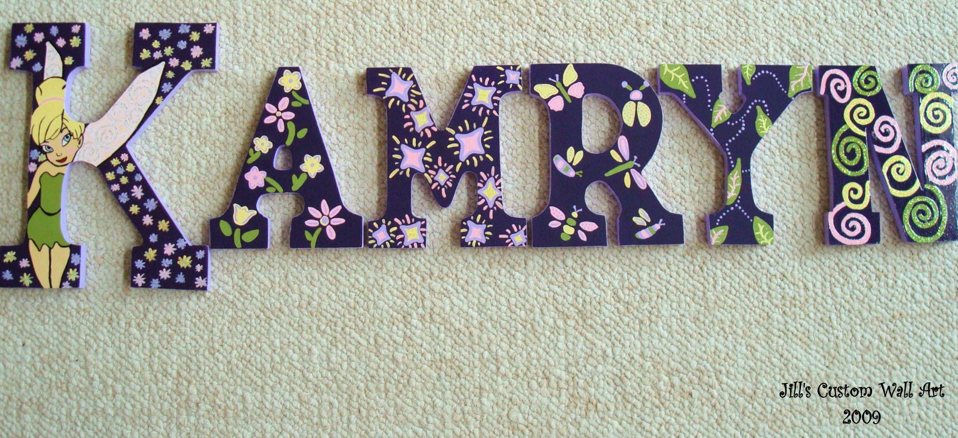 Super cute Kamryn wood letters!   Custom wall art, Kamryn