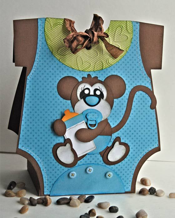 Monkey Onesie Gift Bag!  Perfect for Baby Shower! Another darling idea! ....but, I need one for a baby girl!!! :)