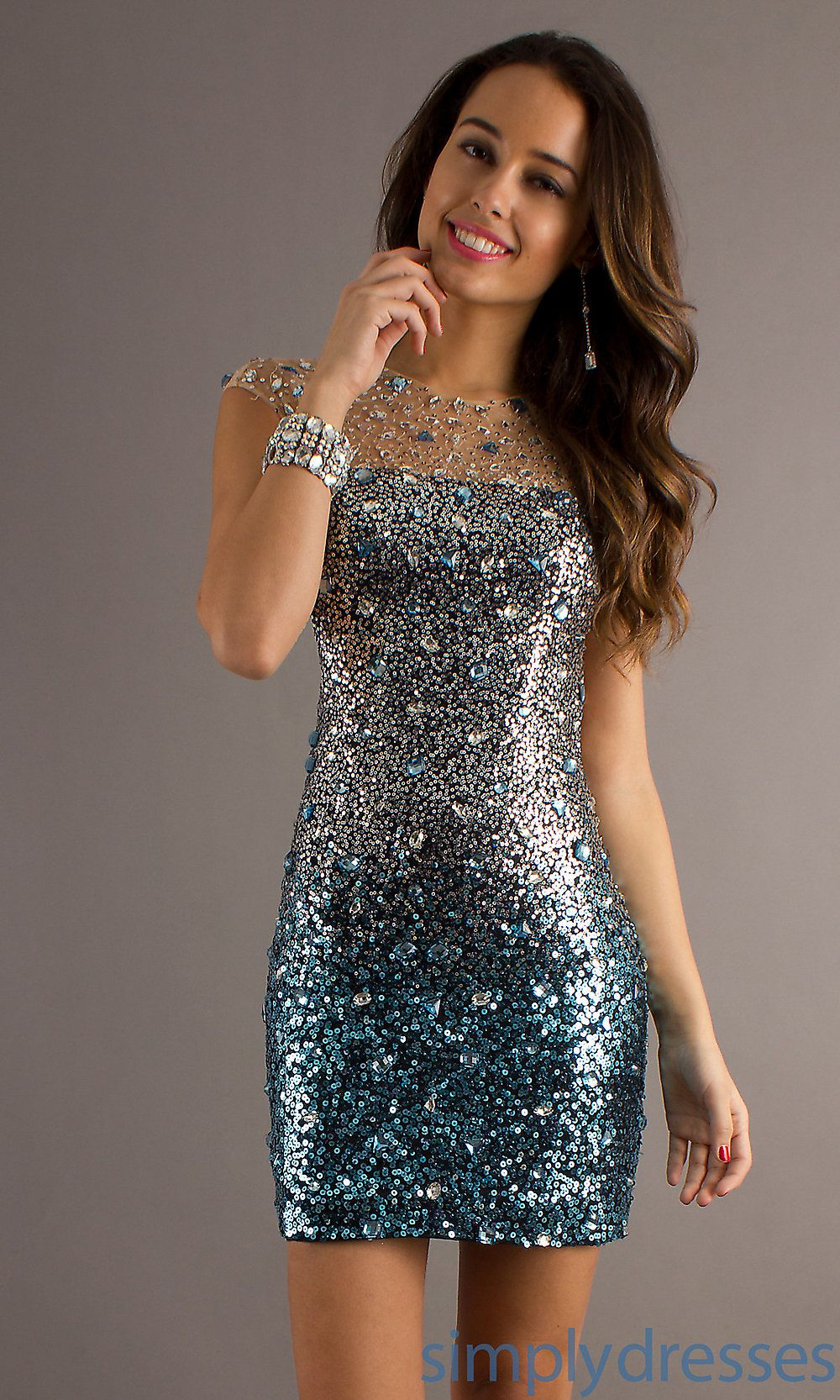 Short beaded dress with open back by temptation things to