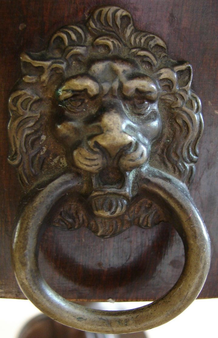 Bronze Lion Door Knocker Mine Are Br And I Have Loved Them On The Double Doors