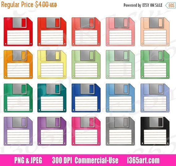 Buy 3 Get 1 Free Floppy Disk Clipart Disk Storage Clip Art Etsy Clip Art Floppy Disk Free Planner Stickers