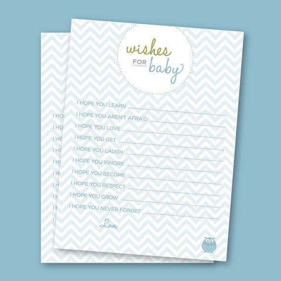 wishes for baby free printable