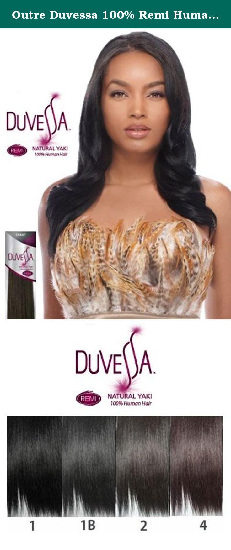 Outre Duvessa 100 Remi Human Hair Weave Natural Yaki 14 Inch 4