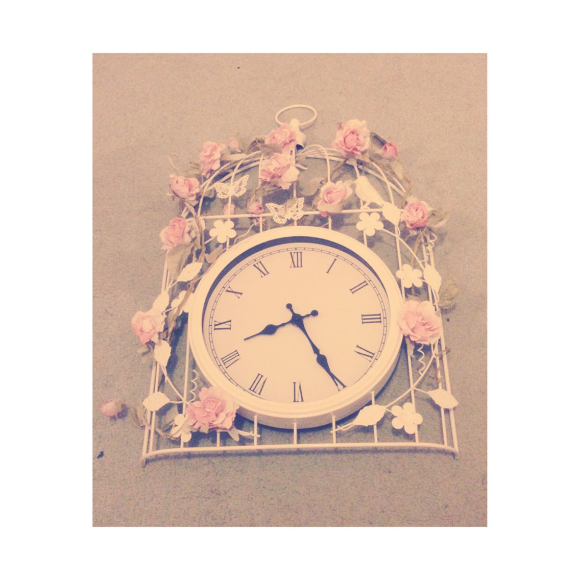 New clock with a rose veil!
