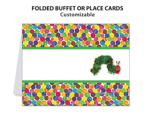 Very Hungry Caterpillar Eric Carle Printable DIY Custom Place – Hungry Caterpillar Birthday Card