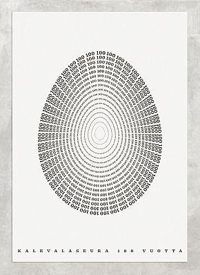 Kalevalaseura 100 vuotta poster / Niilas Nordenswan - Heijaa yhteisö #illustration #poster