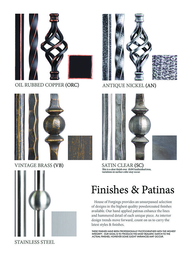 Iron Balusters House Of Forgings Stair And Railing Products | House Of Forgings Balusters | Oval | Contemporary | Oil Rubbed | Modern | Forged Steel