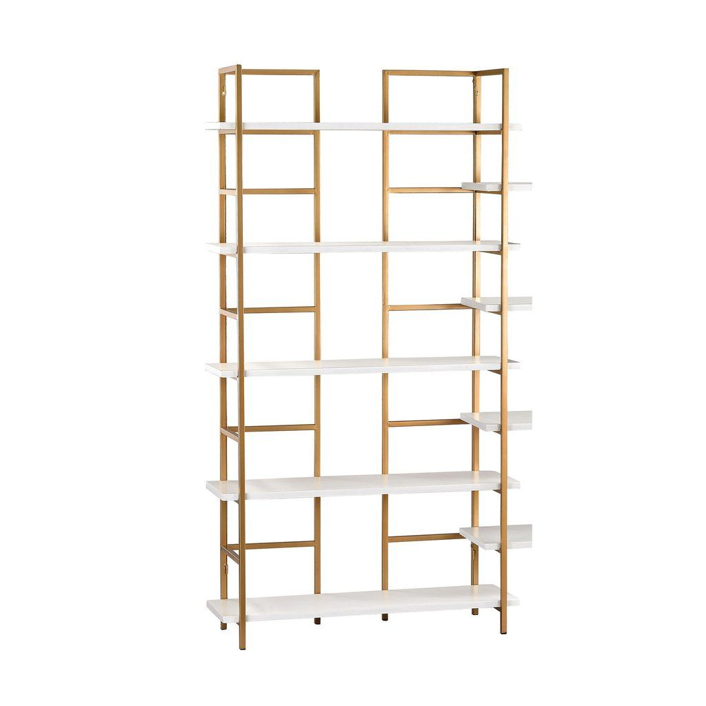 Sterling Metal Wood Shelving Unit White Gold Shelving Unit Metal Shelving Units Wood Shelving Units