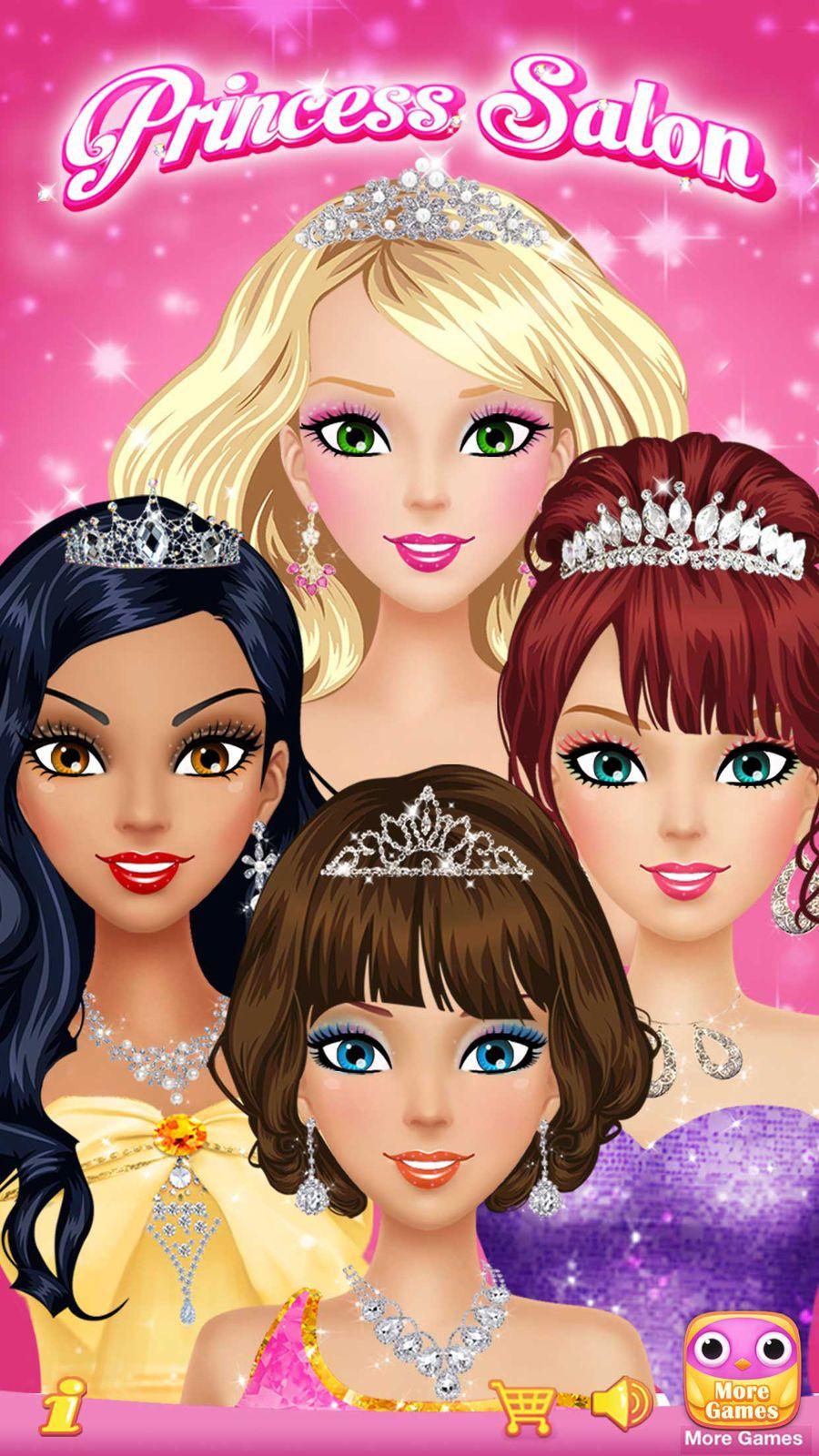 Princess Salon鈩?20 Girls Makeup, Dressup and Makeover