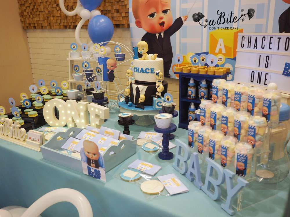 Boss Baby Chaceton Catchmyparty Com Baby Boy 1st