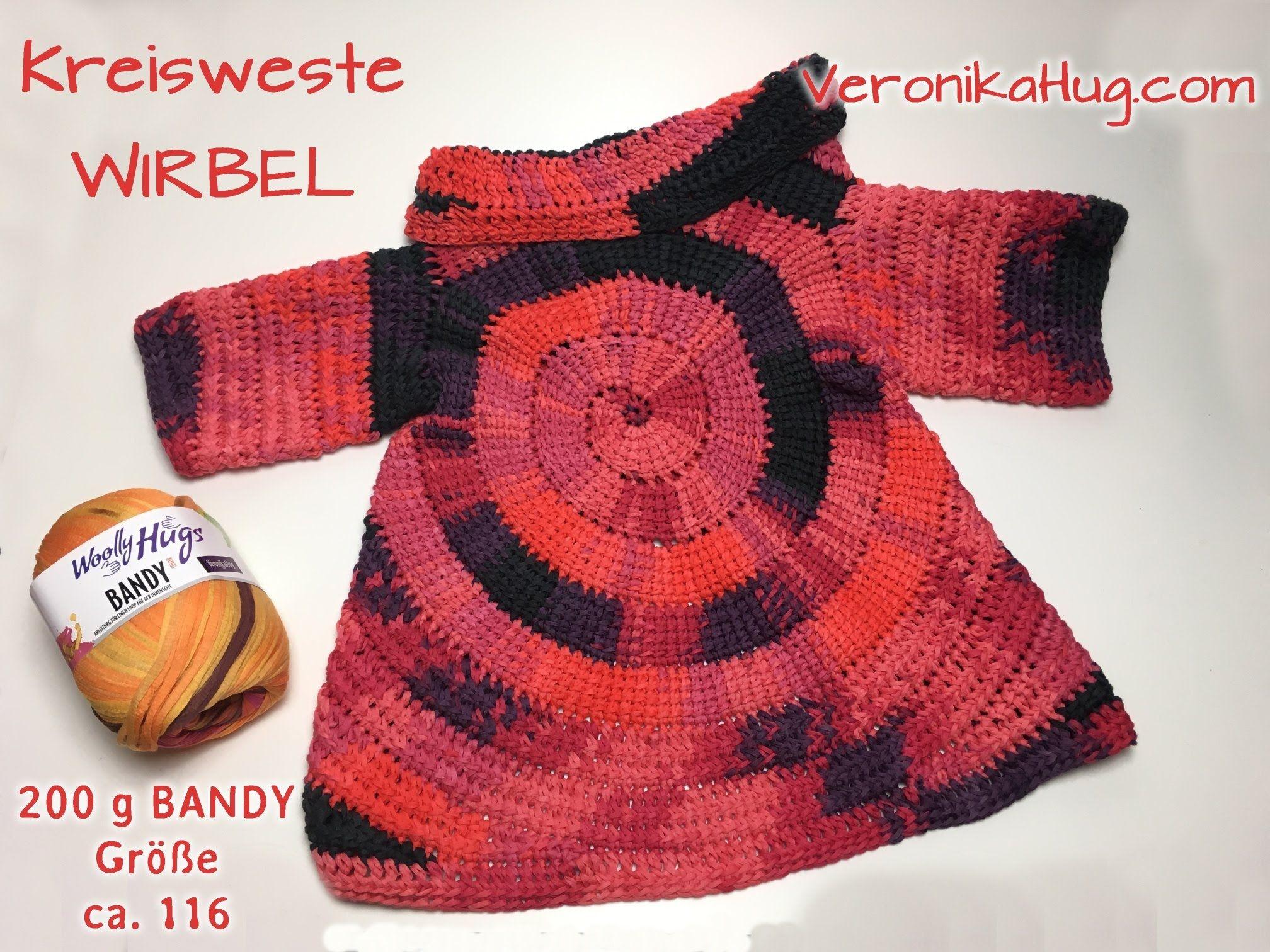 Kreisweste WIRBEL - Kindergröße - Woolly Hugs BANDY Veronika Hug