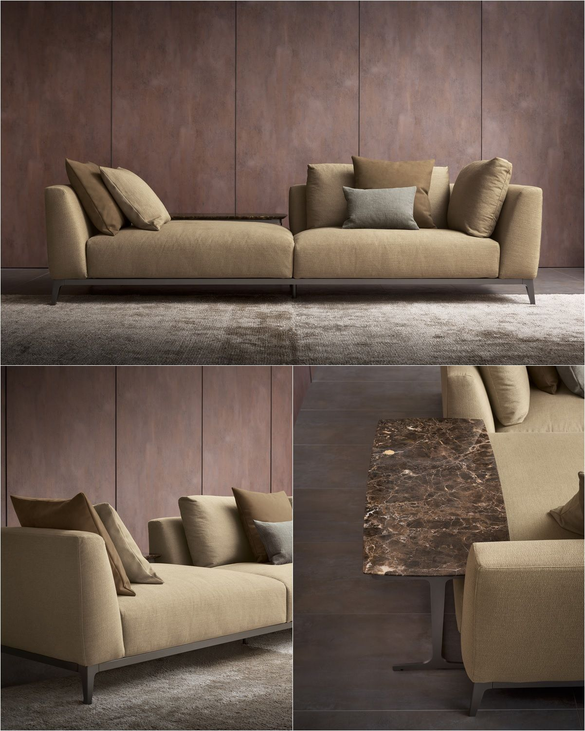 Best Olivier Series Sofa And Coffee Table Composition C Flou 400 x 300
