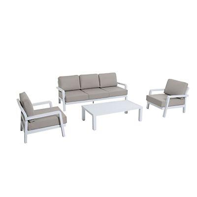 Camargue Salon de détente gris clair 4 éléments | Home ...