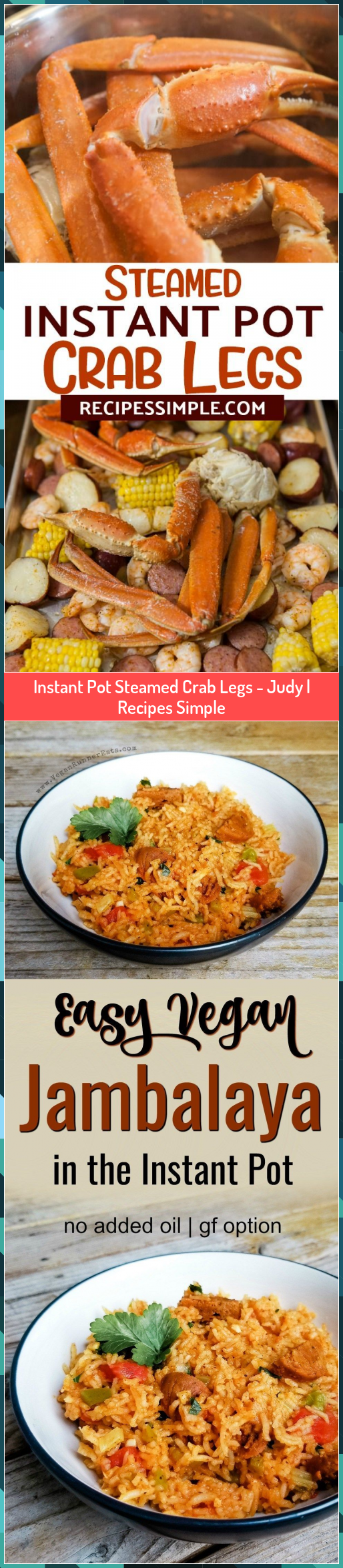 Instant Pot Steamed Crab Legs - Judy | Recipes Simple #Crab #Instant #Judy #Legs #Pot #Recipes #Simple #Steamed