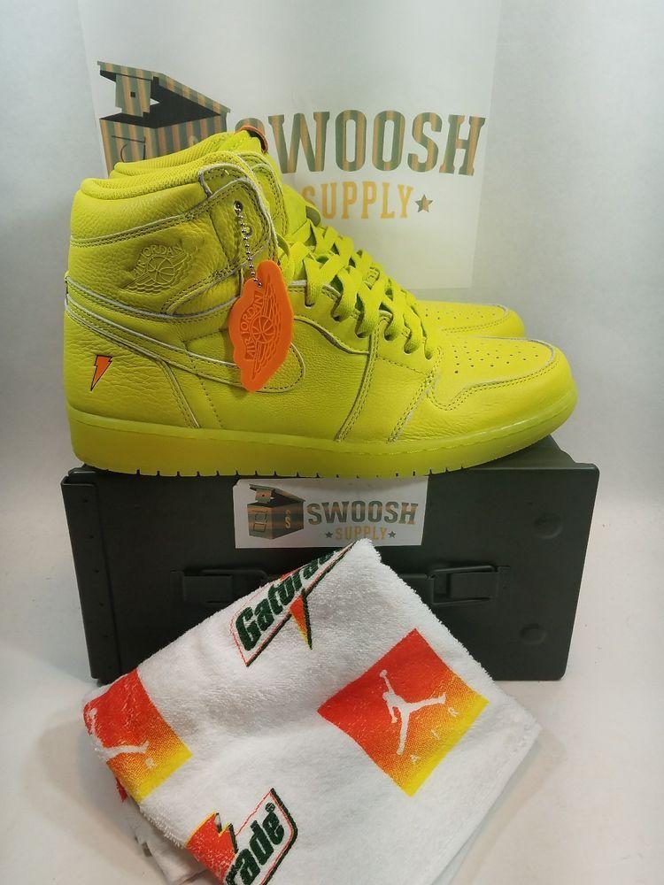 Nike Air Jordan Retro High OG 1 Lemon Lime Gatorade Cyber Yellow AJ5997-345  10.5 8a926bac5