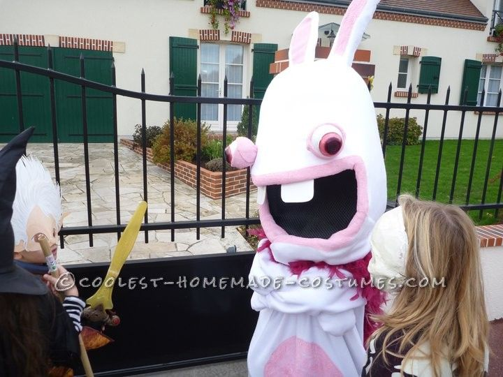 homemade raving rabbid costume - Raving Rabbids Halloween Costume