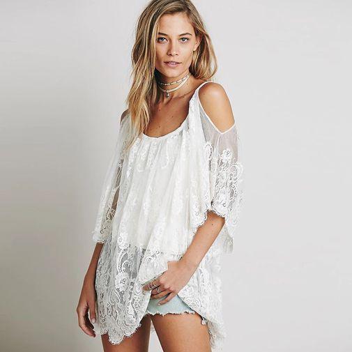 28f3d5b6c4 Vestido playero encaje - Chicfy | COMPRAR | Crochet summer dresses ...