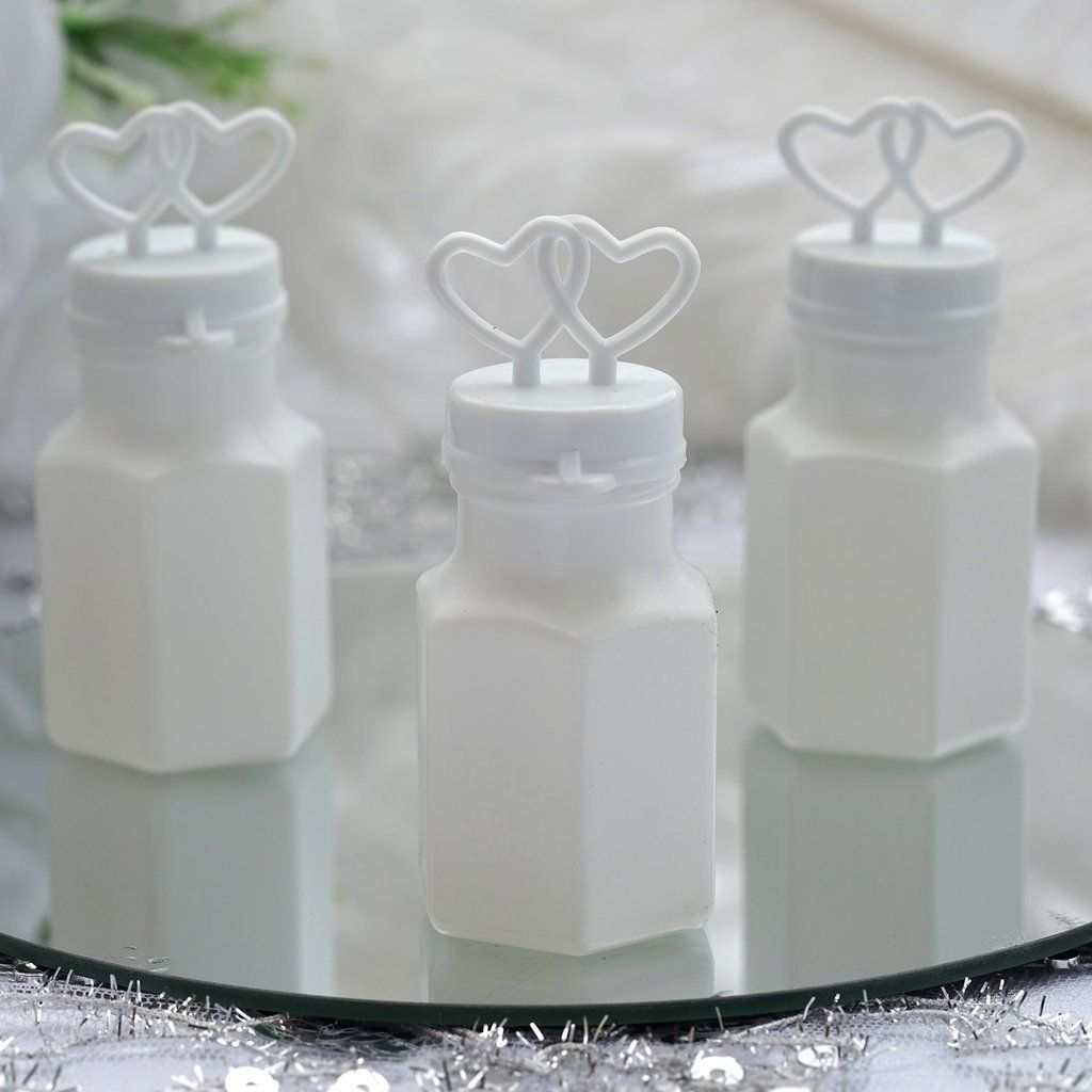 White Wedding Church BUBBLE FAVORS Ceremony Reception Wholesale Decorations