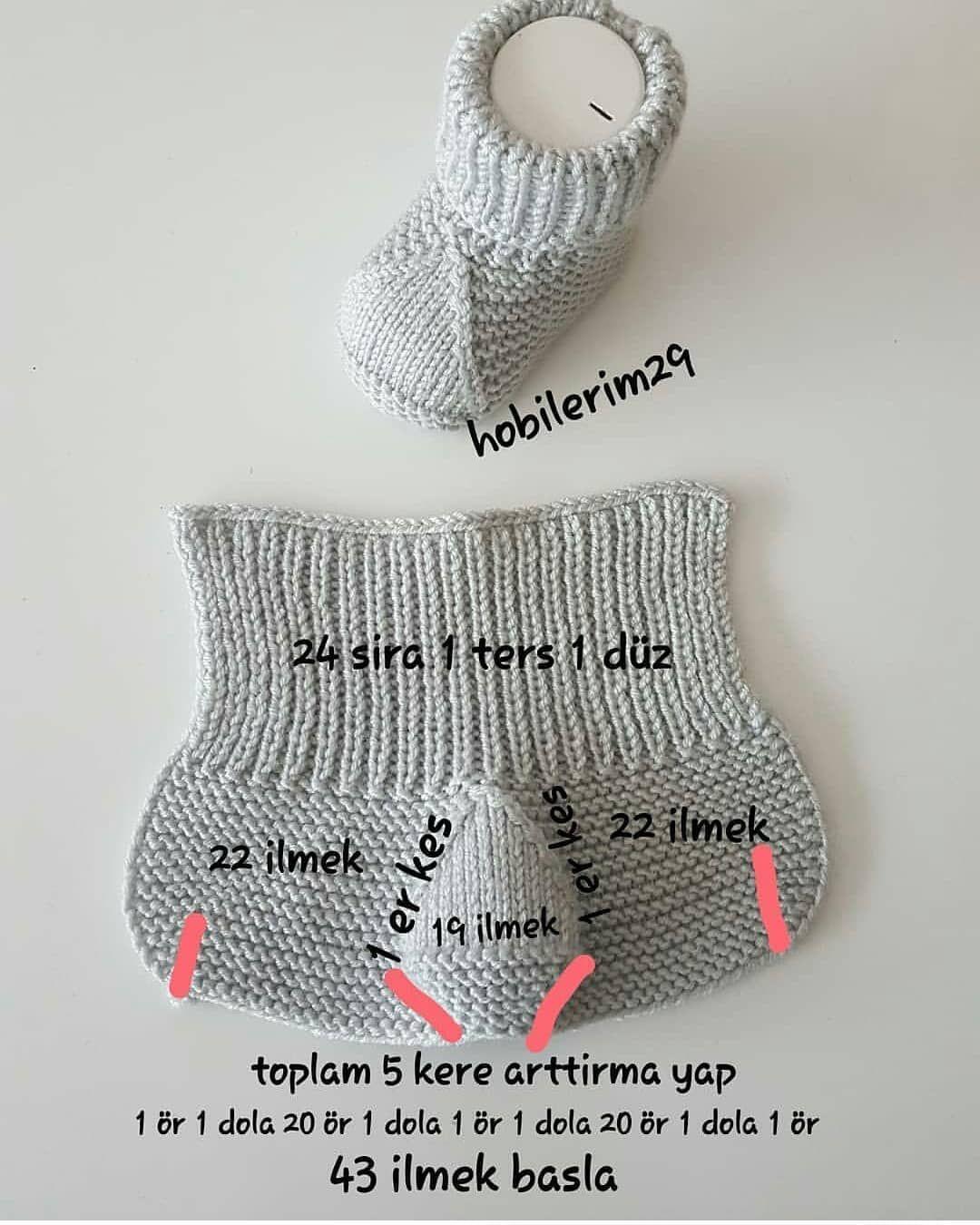???? ???? Çok minnoş patik modeli ????kaydetmeyi unutmayın ???????? . @hobilerim29 ???????????????? . . . . .  #handmade #crochet #knit #babyknit #bebekörgüleri… #strickanleitungbaby