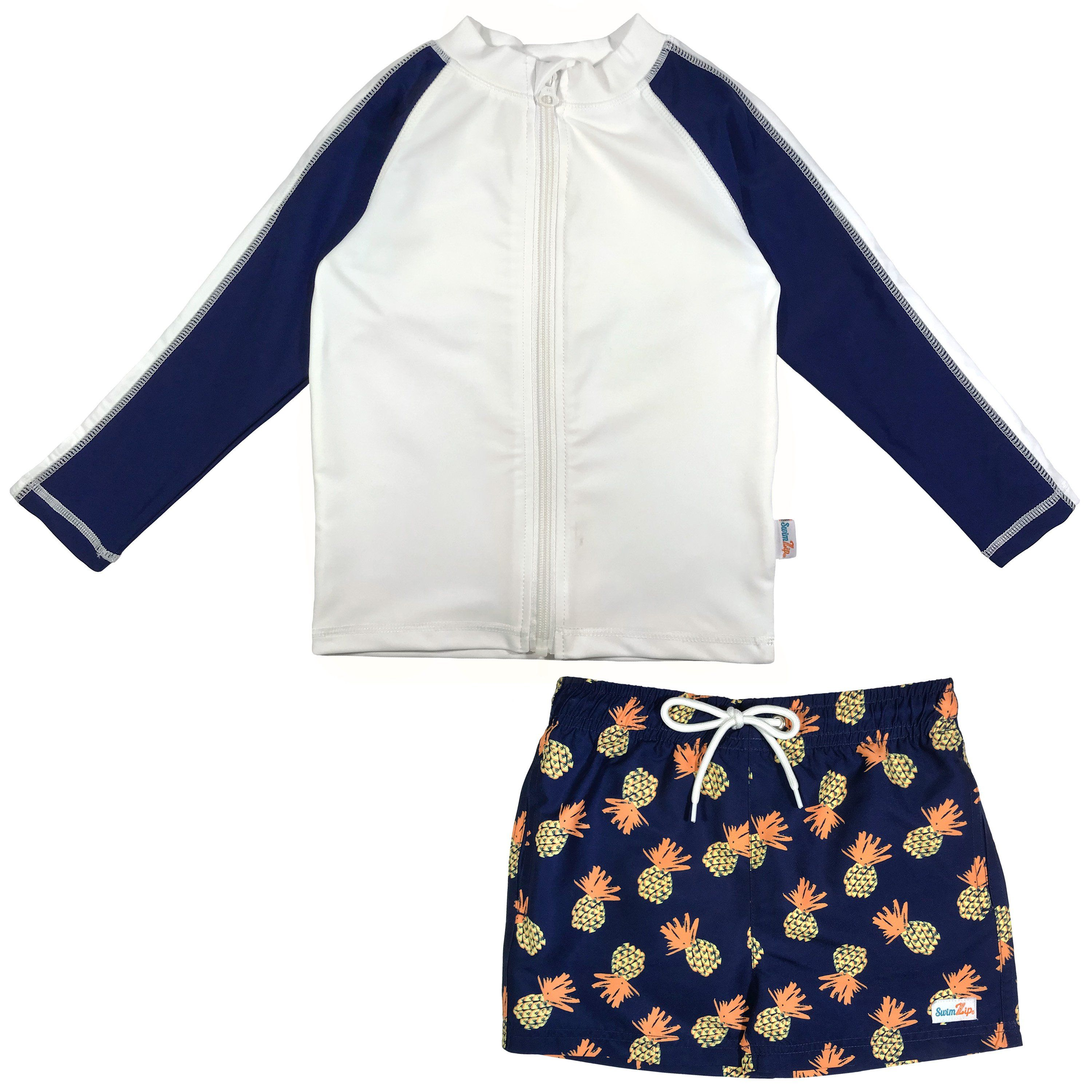 fa21982c9c boy pineapple swimsuit long sleeve rash guard swimzip. boy pineapple swimsuit  long sleeve rash guard swimzip Little Girl ...